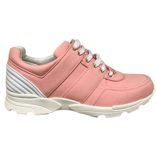 Preload https://img-static.tradesy.com/item/25494725/chanel-pink-17c-salmon-canvas-cc-white-lace-up-flat-trainer-38-sneakers-size-eu-385-approx-us-85-reg-0-0-540-540.jpg