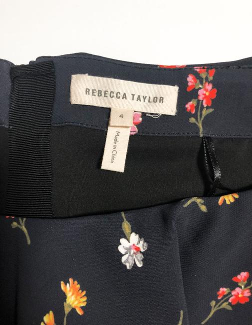 Rebecca Taylor Off The Shoulder Crop Floral Print Top Navy and Multi-colored Image 5