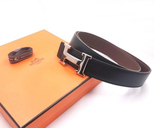 Hermès Hermes Constance 32mm Silver H Bucket Black Brown Reversible Belt 90cm Image 1