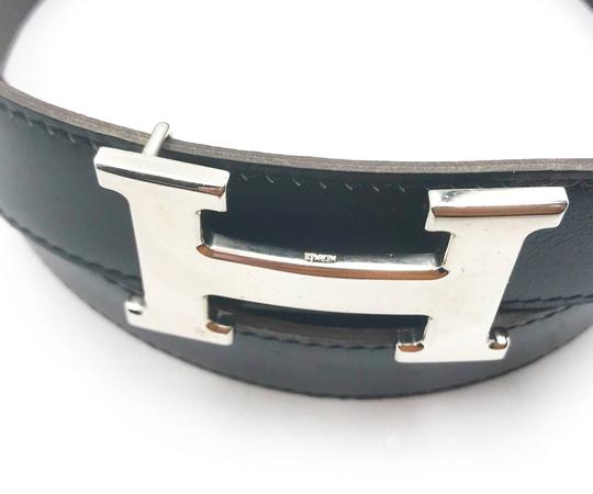 Hermès Hermes Constance 32mm Silver H Bucket Black Brown Reversible Belt 90cm Image 2