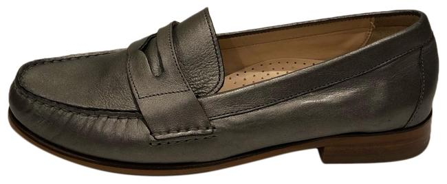 Item - Grey New Alexa Pearlized Leather Loafer Flats Size US 6.5 Regular (M, B)