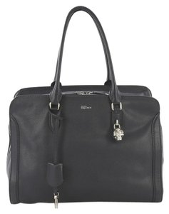 Alexander McQueen Leather Tote in Black