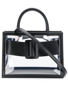 Boyy Bobby Satchel Shoulder Pvc Tote in Black Leather Trimmed