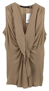 L.A.M.B. #taupe #mauve #work Office #modern #sheer Back Top PINK