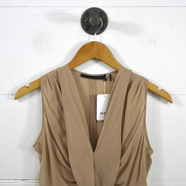 L.A.M.B. #taupe #mauve #work Office #modern #sheer Back Top PINK Image 1