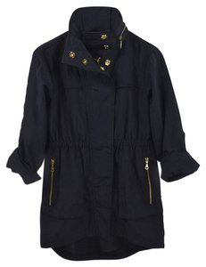 7 For All Mankind #wind Breaker Hardware #casual #fall #nylon BLUE/ GOLD Jacket