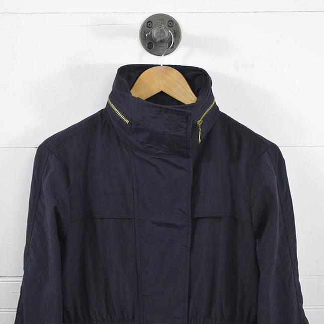 7 For All Mankind #wind Breaker Hardware #casual #fall #nylon BLUE/ GOLD Jacket Image 1