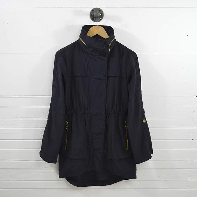 7 For All Mankind #wind Breaker Hardware #casual #fall #nylon BLUE/ GOLD Jacket Image 2