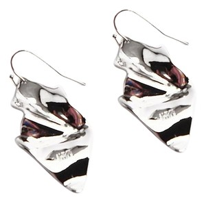 Alexis Bittar New Alexis Bittar Crumpled SILVER Wire Drop Earring
