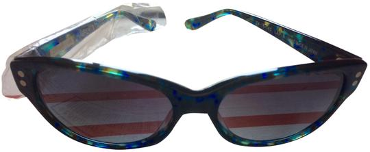 Preload https://img-static.tradesy.com/item/25495370/derek-lam-lapis-blue-rare-cat-eye-sunglasses-0-1-540-540.jpg