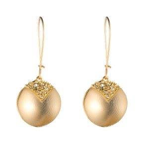 Alexis Bittar New Alexis Bittar Origami Inlay Dangling GOLD Sphere Drop Earring