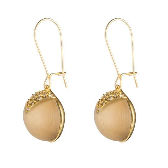 Alexis Bittar New Alexis Bittar Origami Inlay Dangling GOLD Sphere Drop Earring Image 2