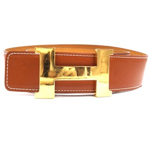 Hermès Large 42Mm Constance Gold H Belt Reversible Belt size 110