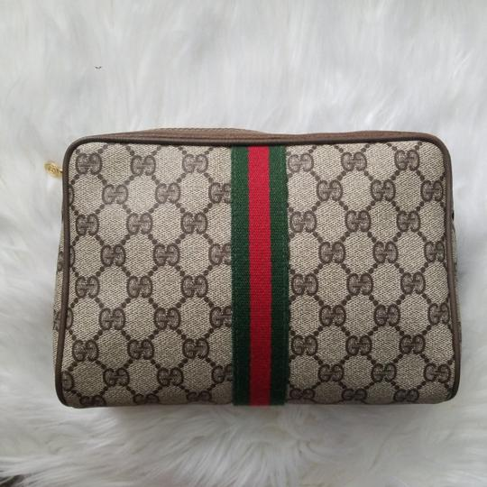 Gucci Vintage Vintage Vintage Vintage Purse Ophidia Brown Clutch Image 1