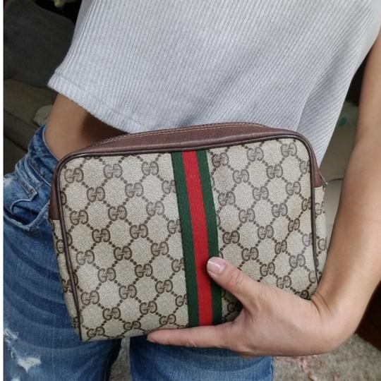 Gucci Vintage Vintage Vintage Vintage Purse Ophidia Brown Clutch Image 10