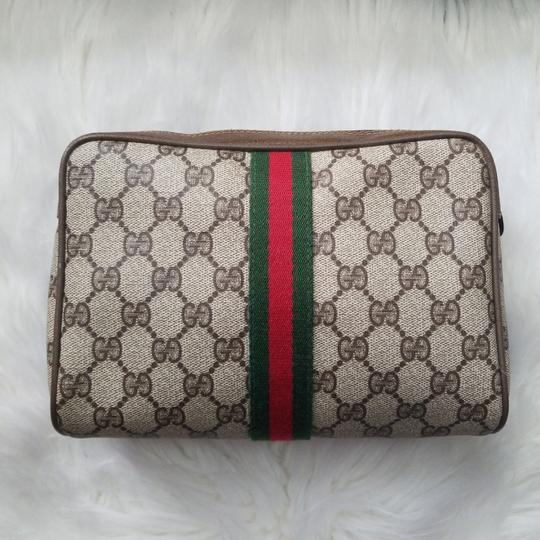 Gucci Vintage Vintage Vintage Vintage Purse Ophidia Brown Clutch Image 2