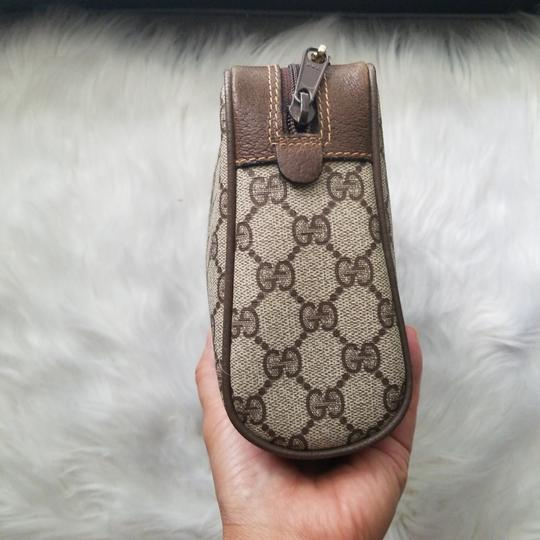 Gucci Vintage Vintage Vintage Vintage Purse Ophidia Brown Clutch Image 3