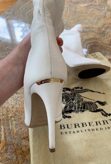 Burberry white leather Boots Image 1