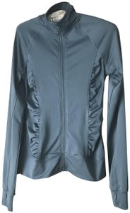 Aeropostale Live Love Dream Zip-up Ruching Thumb Holes Polyester/Spandex Grey Jacket