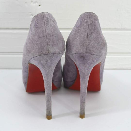 Christian Louboutin #suede #leather #red Sole #peep Toe #formal PURPLE Pumps Image 3
