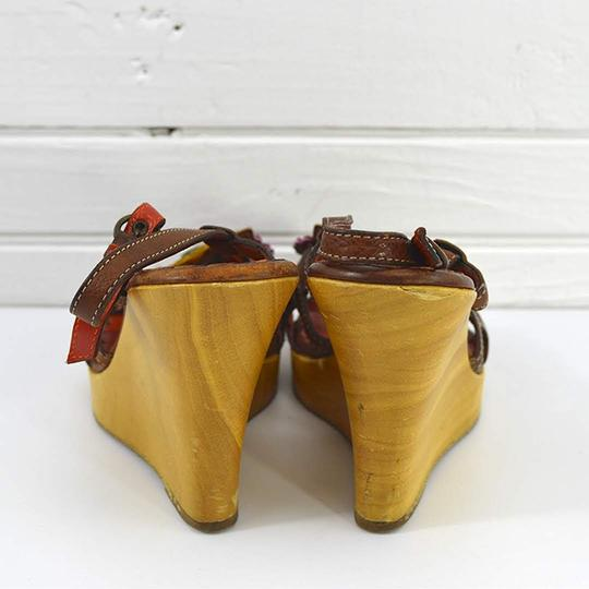 Moschino #vintage #floral #studded #leather #bohemian TAN/ BROWN Sandals Image 3