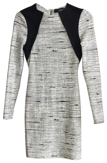 Item - Black and White Short Casual Dress Size 0 (XS)