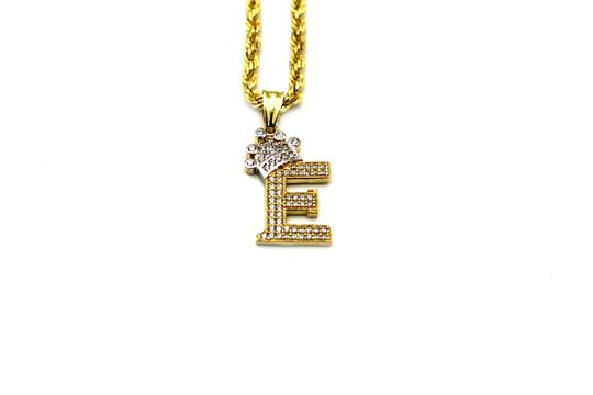 Preload https://img-static.tradesy.com/item/25495616/2002-10k-yellow-gold-cz-letter-e-with-rope-chain-necklace-0-0-540-540.jpg
