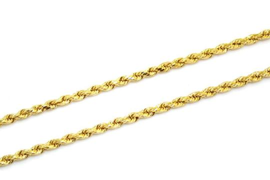 Other (2002) 10K Yellow Gold CZ Letter E With Rope Chain Necklace Image 4