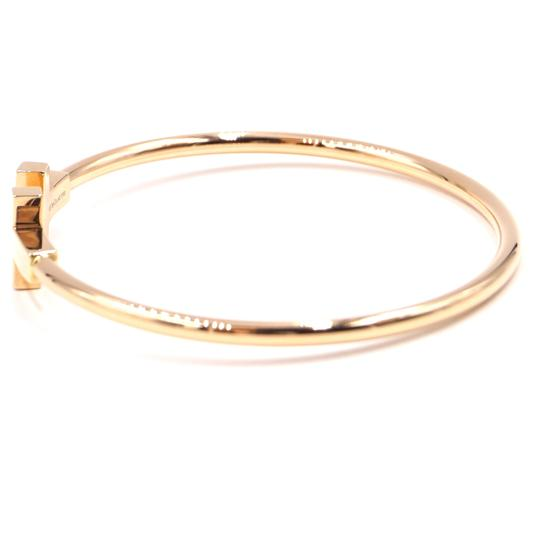 Tiffany & Co. T wire Logo Gold Cuff Bracelet Bangle Image 4