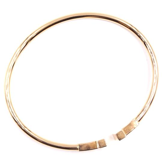 Tiffany & Co. T wire Logo Gold Cuff Bracelet Bangle Image 8
