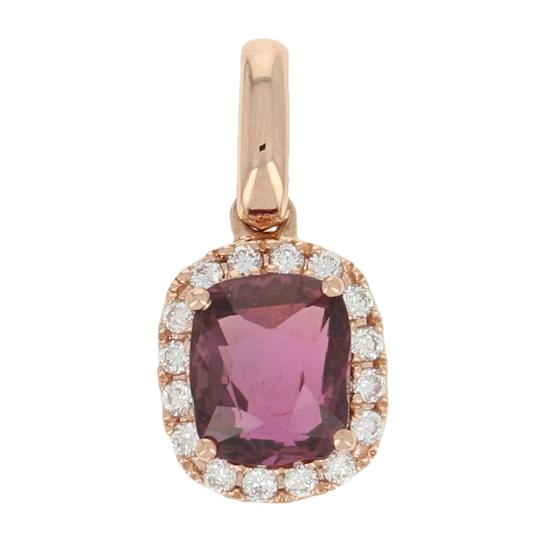 Preload https://img-static.tradesy.com/item/25495673/14k-rose-gold-new-114ctw-ruby-and-diamond-pendant-halo-e3911-0-0-540-540.jpg