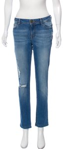 DL1961 Distressed Mid-rise Excellent Condition Skinny Jeans-Distressed
