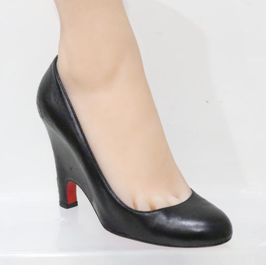 Christian Louboutin Black Wedges Image 4