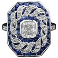 Fashion Jewelry For Everyone White 14k Gold Plated Sapphire Stone Women Party Size 7 8 9 Ring Image 0