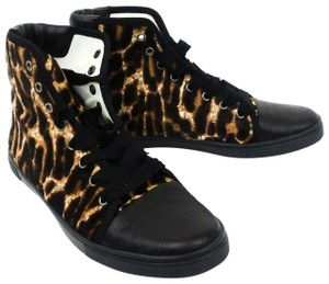 Lanvin Leopard Hi-top Brown / Black Athletic
