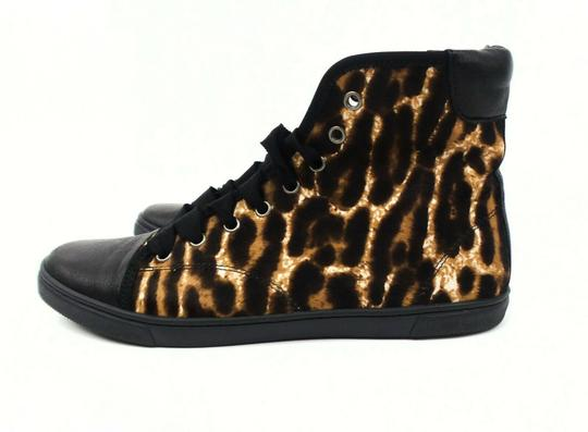 Lanvin Leopard Hi-top Brown / Black Athletic Image 3