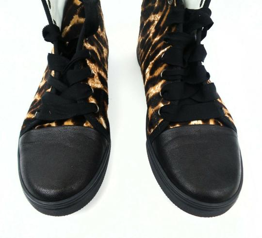Lanvin Leopard Hi-top Brown / Black Athletic Image 4