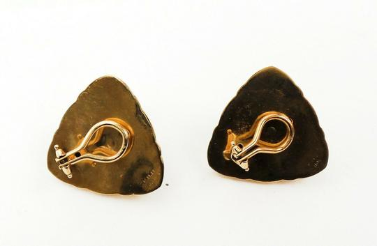 Other 14K Onxy Cabochon Triangle Earrings Image 2