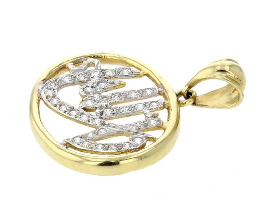Midwest Jewellery Midwest Jewellery 18K Gold Allah Pendant Muslim God Studded with CZ Image 1