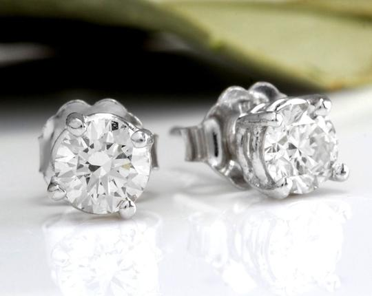 Other 1.20Ct Natural VS2-SI1 Diamond 14k Solid White Gold Stud Earrings Image 1