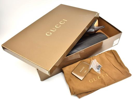 Gucci Tall Logo Brown Boots Image 1
