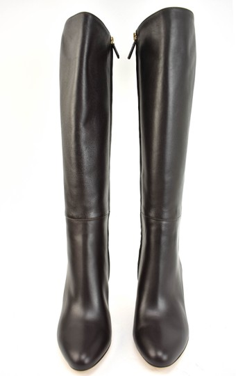 Gucci Tall Logo Brown Boots Image 3