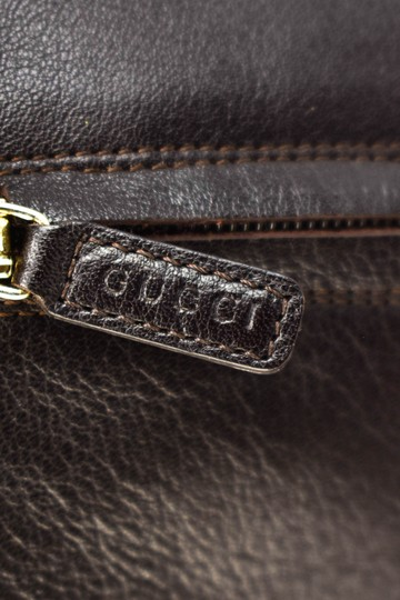 Gucci Tall Logo Brown Boots Image 6