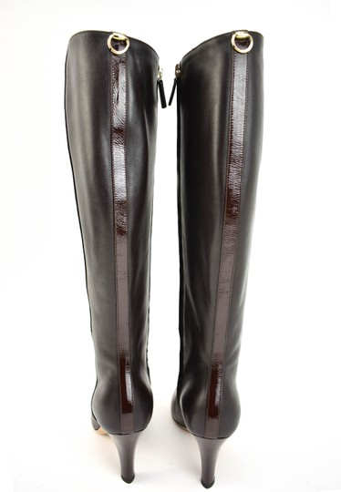 Gucci Tall Logo Brown Boots Image 7
