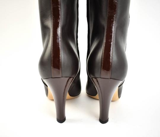 Gucci Tall Logo Brown Boots Image 8