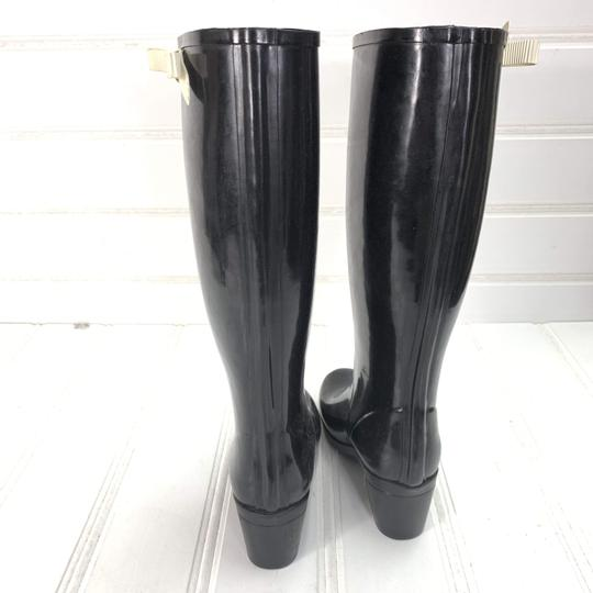 Kate Spade Rainboots Tall Bow Black Boots Image 2