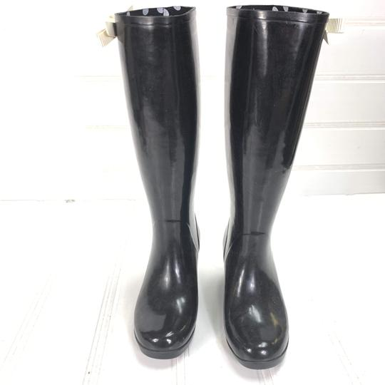 Kate Spade Rainboots Tall Bow Black Boots Image 3