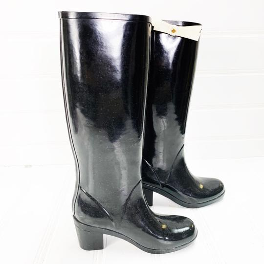 Kate Spade Rainboots Tall Bow Black Boots Image 4