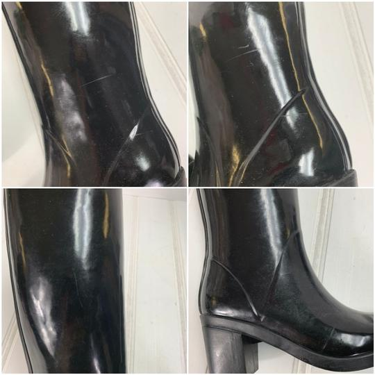 Kate Spade Rainboots Tall Bow Black Boots Image 9