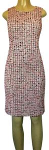 St. John short dress pink Knit Sweater Tweed Sleeveless on Tradesy